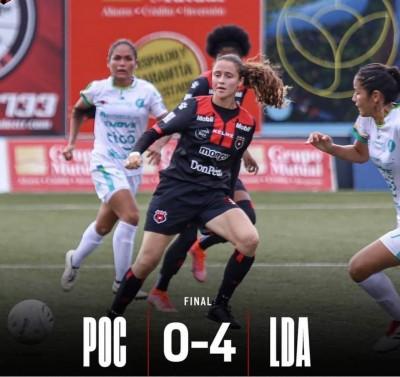 Alajuelense aseguró liderato en torneo femenino